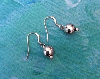 Rose gold drop earrings dangle earrings simple and elegant made by rubybluejewels