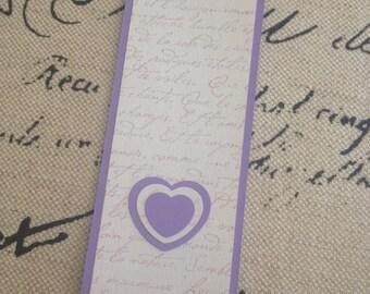 SALE! Purple French Script Bookmark