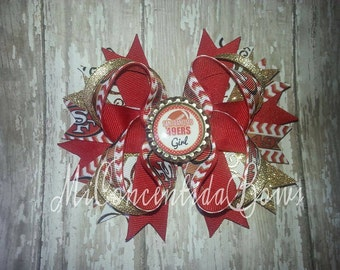 49ers hairbow