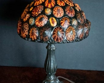 Amazing Vintage Lamp Handmade with Owl Limpet Sea Shells