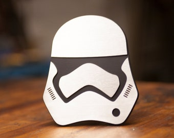 Star Wars First Order Stormtrooper Trailer Hitch Cover - 3D - Steel/Stainless Steel