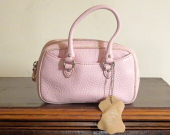 Cole Haan Pink Leather  Mini Wristlet Bag- Very Nice