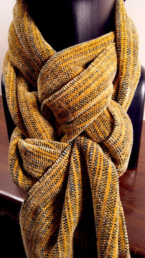 Kentucky Goldenrod -- Chenille Scarf