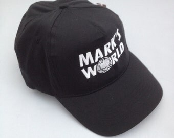 Personalised Wayne's World Embroidered Baseball Cap Add Your Name and Hat Colour
