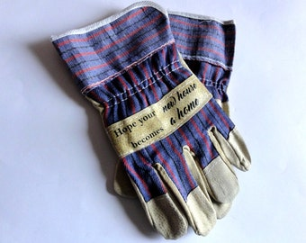 Personalized Work Gloves. Protective Gloves With Message. Housewarming  Custom Name Surname Gloves. Create