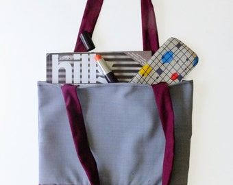 Tote - Maroon and blue