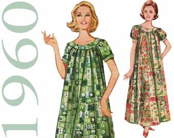 Trapeze Dress Vintage Muu Muu Pattern BUTTERICK 9946 bust 31 or 32 Tent Dress 1960s Dress Pattern Long Muu Muu Dress Beach Dress Pattern