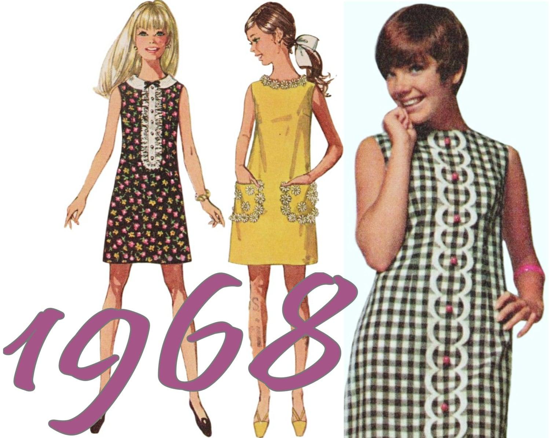 girls summer dress 60s teen dress simplicity 8011 sz 78 b