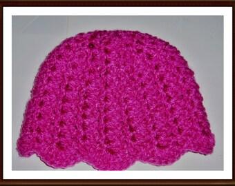 Crochet Baby Tessa tulip Beanie