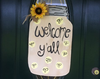 Mason Jar Door Hanger