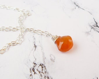 Delicate Carnelian Necklace