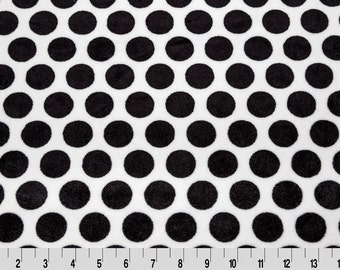 Mod Black and White Dot Smooth Minky Fabric by Shannon Fabrics