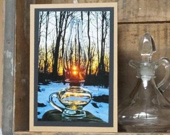 Handmade primitive oil lamp etsy sonrise azarels sunrise vintage antique oil lamp photo greeting card appeals to vintage and m4hsunfo Images