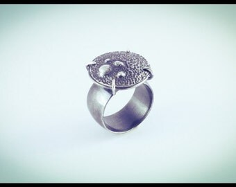 Micro-Organism Silver Ring 2