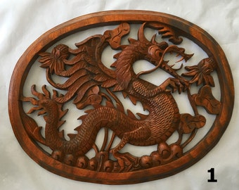 Wood Dragon Plaque to Guard Your Home | Year of the Dragon