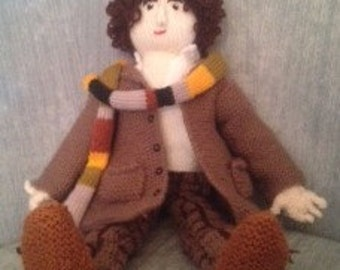 Hand-Knitted Tom Baker's Dr Who
