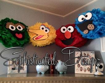 Sesame Street Character Pom Poms High Quality