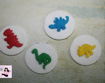 24x Dinosaur Boys Edible Fondant Cupcake Toppers