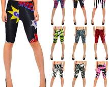 New Ladies Cycling Shorts Stretchy Strechy Long Shorts Leggings Size8-22