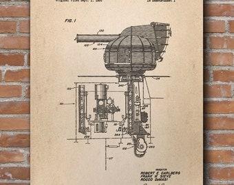 Missile Launcher Patent Print, Rocket Patent, Military Decor, Military Art, Patent Print - DA0613