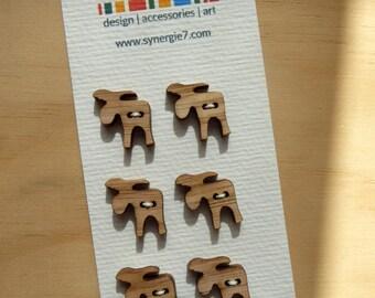Laser Cut Moose Buttons