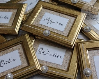 Damani Gold Table Name Frames
