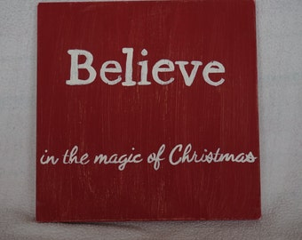 Believe Hand Painted Wood Canvas