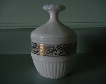 Holiday Magic Cosmetic Jar with Lid that Doubles as Pedestal
