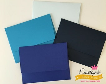 A6 Envelopes for 4 x 6 Photos and Cards, Invitations, Blue, Pack of 20 / A6 envelopes for invitations blue