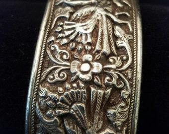 Embossed Sterling Silver Bracelet