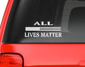 All Lives Matter (M42) USA Vinyl Sticker Car/truck American Window Decal