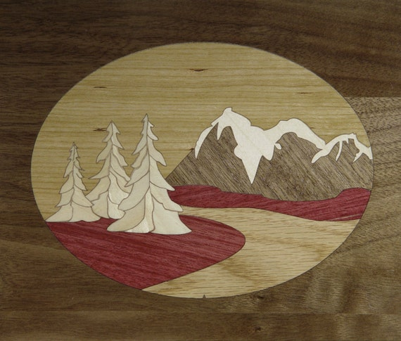 "8""x 10"" Marquetry Project Kit - Tetons"