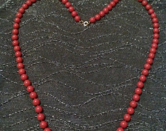 Clearance was 7 now 5. 80s/90s Red Bead Necklace