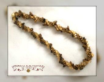 TIGEREYE handmade beaded necklace