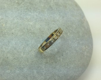 Vintage 18ct Gold Diamond Eternity Ring