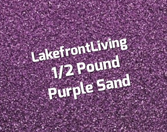 Purple Sand for Wedding Unity Sand - Sand Ceremony - Colored Sand for Craft Projects, Kids Play or Fairy Garden - 1/2 Pound