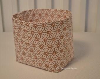Fabric basket fabric origami copper