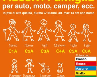 Family on board stickers personalized car, motorcycle, caravan. Family sticker-3