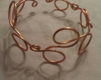 Bubble Cuff, Wire Wrapped