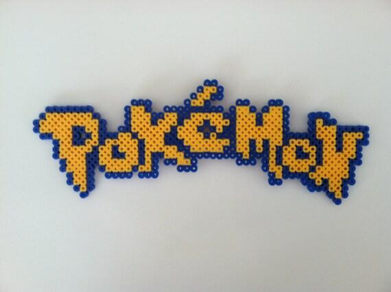 Pokemon Logo Perler