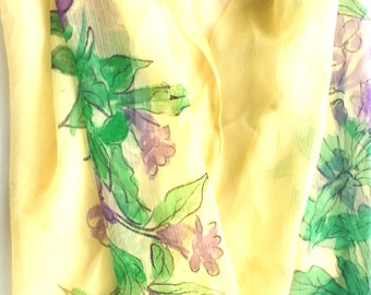 Hand painted Scarves on Georgette