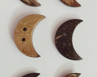 Coconut Moon Buttons x 6