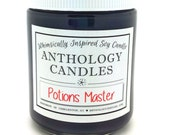 Potions Master Candle - Whimsically Inspired Soy Candle, Scented Soy Candle, Book Candle, 8oz Jar