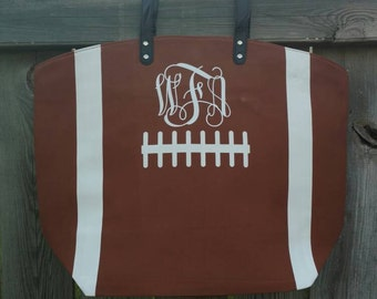 Football Tote, Personalized Football Tote, Monogrammed bag, Monogrammed, Football Tote, Football Bag, Football mom