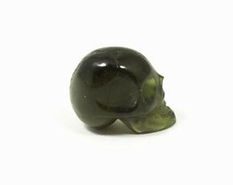 Cute little Moldavite Skull