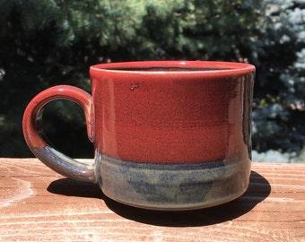 Handmade Pottery Mug, Wheel Thrown Ceramic Mug, Unique Pottery Mug