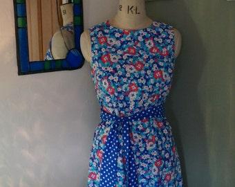 60's print dress