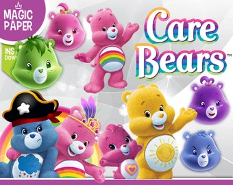 Care Bears Clipart - Digital 300 DPI PNG Images, Photos, Scrapbook, Digital, Cliparts - Instant Download
