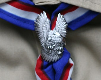 Eagle Scout Kerchief Slide - Nickle finish