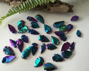 Rainbow / Titanium Aura Arrowhead